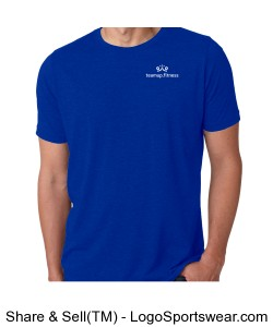 Next Level Mens Poly/Cotton Crew Neck Tee - Royal Design Zoom